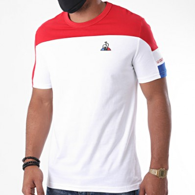 TRI Tee SS N°1 M new opt.white/pur rouge